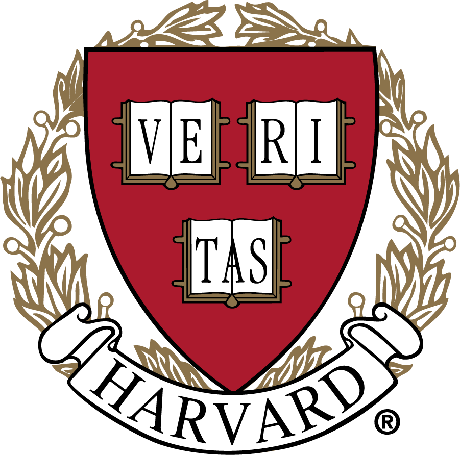 Harvard Crimson Logo Primary Logo (1971-2002) - Veritas Seal. The institutional seal was used to represent Harvard athletics all the way into the 21st century. Can be found in most team media guides spanning over three decades. SportsLogos.Net