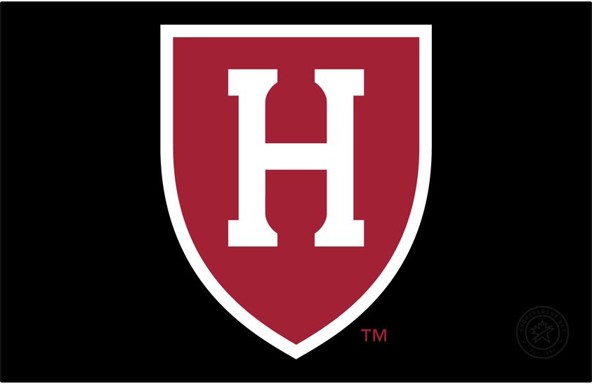 Harvard Crimson Logo Primary Dark Logo (2020-Pres) - Block H in shield. The curves in the serifs represent Harvard Stadium. SportsLogos.Net