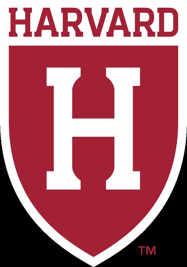 Harvard Crimson Logo Secondary Logo (2020-Pres) - HARVARD over Block H in shield. SportsLogos.Net