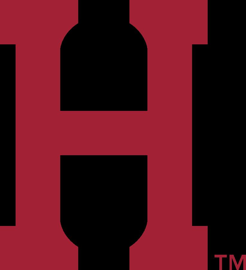 Harvard Crimson Logo Secondary Logo (2020-Pres) - Block H. The curves in the serifs represent Harvard Stadium. SportsLogos.Net