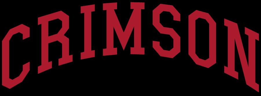 Harvard Crimson Logo Wordmark Logo (2002-2020) - Arched CRIMSON in crimson and black. SportsLogos.Net