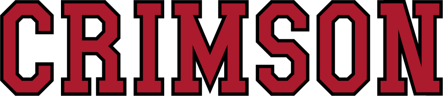 Harvard Crimson Logo Wordmark Logo (2002-2020) - Straight CRIMSON in crimson and black. SportsLogos.Net