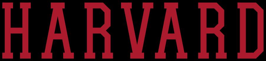 Harvard Crimson Logo Wordmark Logo (2002-2020) - Straight HARVARD in crimson and black. SportsLogos.Net