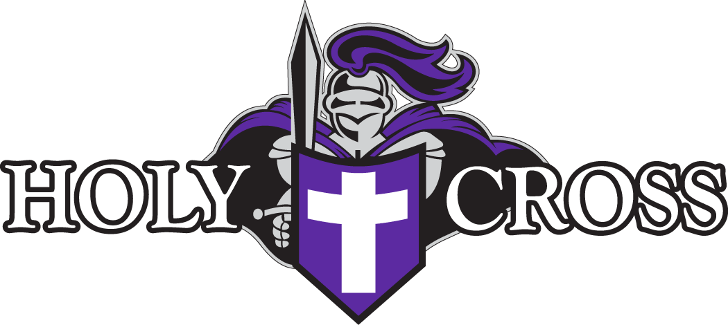 Holy Cross Crusaders Logo Primary Logo (1999-2013) - Knight with sword and shield with script SportsLogos.Net