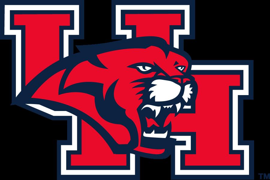 Houston Cougars Logo Secondary Logo (2003-2012) - Cougar head on block UH logo. SportsLogos.Net