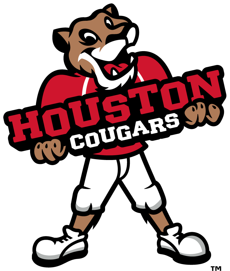 Houston Cougars Logo Mascot Logo (2017-Pres) - The mascot cougar was revised replacing navy with black in the 2017 brand update. SportsLogos.Net