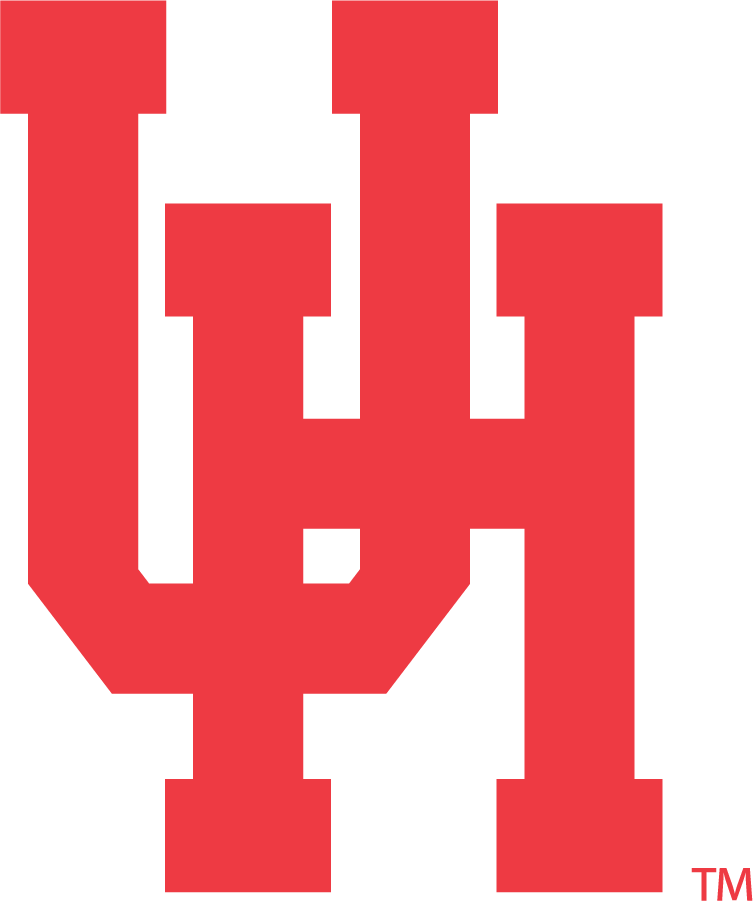 Houston Cougars Logo Primary Logo (1962-1996) - Interlocking, not overlapping, block UH in red. This was used on their football helmets with a navy outline from the 1995 through 1998 seasons. SportsLogos.Net