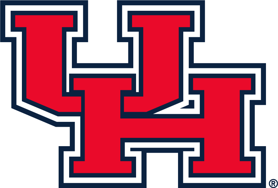 Houston Cougars Logo Primary Logo (2000-2012) - Block UH logo in red with white and navy outlines. This existing a few years prior but became the Primary in roughly 2000. First appeared on their football helmets in 1999. SportsLogos.Net
