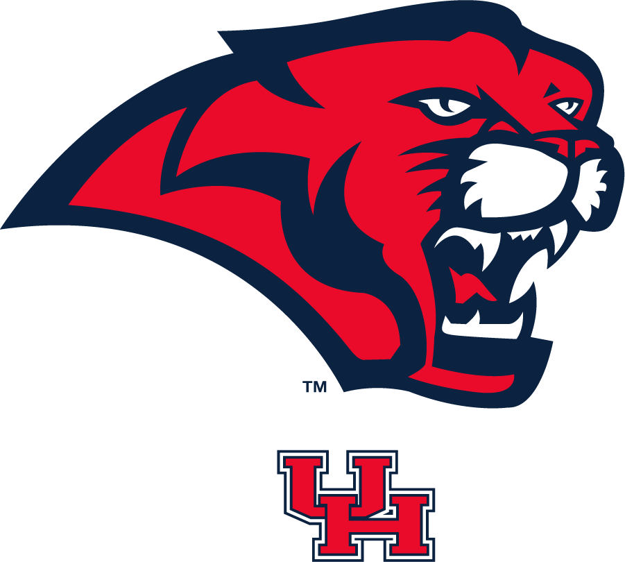 Houston Cougars Logo Secondary Logo (2003-2012) - Cougar head over block UH logo. SportsLogos.Net