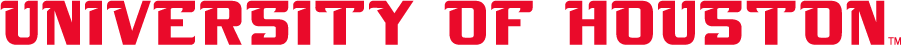 Houston Cougars Logo Wordmark Logo (2003-2012) - Straight UNIVERSITY OF HOUSTON in shorter, thicker letters than other wordmark used at this time. SportsLogos.Net