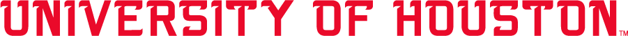 Houston Cougars Logo Wordmark Logo (2003-2012) - Straight UNIVERSITY OF HOUSTON in taller, thinner letters than other wordmark used at this time. SportsLogos.Net