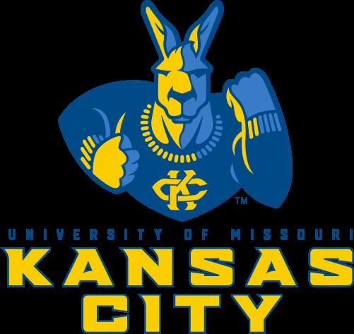 Kansas City Roos Logo Primary Logo (2019-Pres) - A blue and yellow kangaroo facing the viewer raising a fist above team name SportsLogos.Net