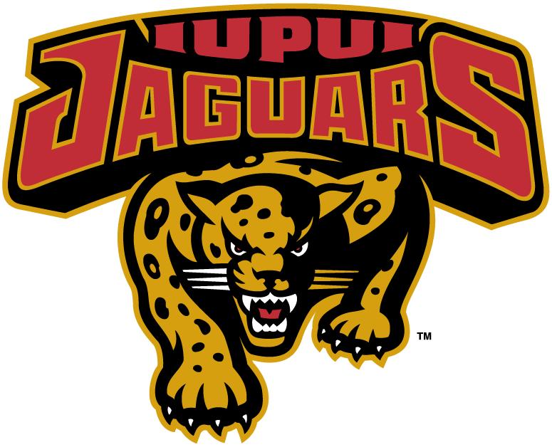 IUPUI Jaguars Logo Primary Logo (1998-2007) - A jaguar on the prowl under team script SportsLogos.Net