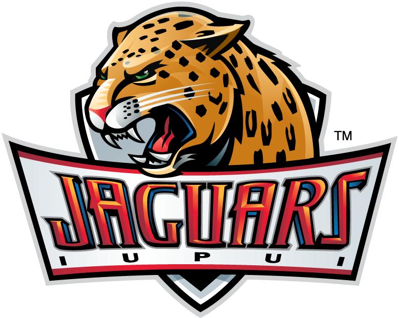 IUPUI Jaguars Logo Primary Logo (2008-Pres) - Jaguar Head atop ornate script.   SportsLogos.Net