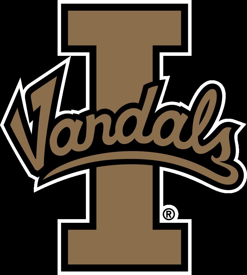 Idaho Vandals Logo Alternate Logo (2008-2018) - Script Vandals on Block I SportsLogos.Net