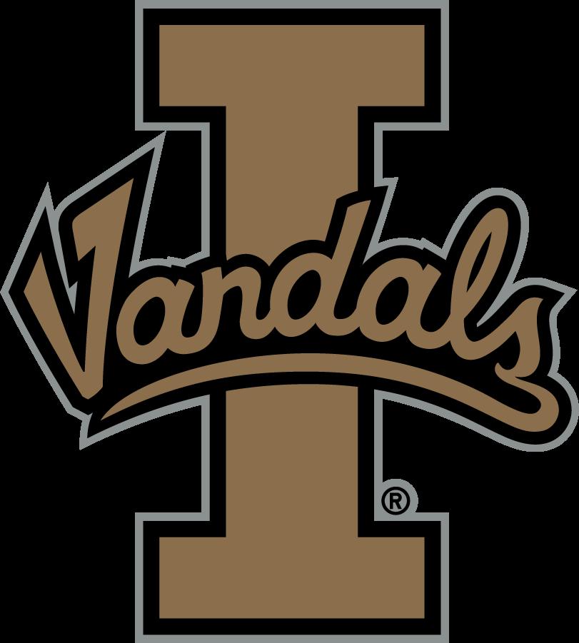 Idaho Vandals Logo Alternate Logo (2014-2018) - Script Vandals on Block I SportsLogos.Net