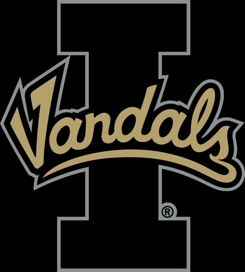 Idaho Vandals Logo Alternate Logo (2018) - Script Vandals on Block I SportsLogos.Net