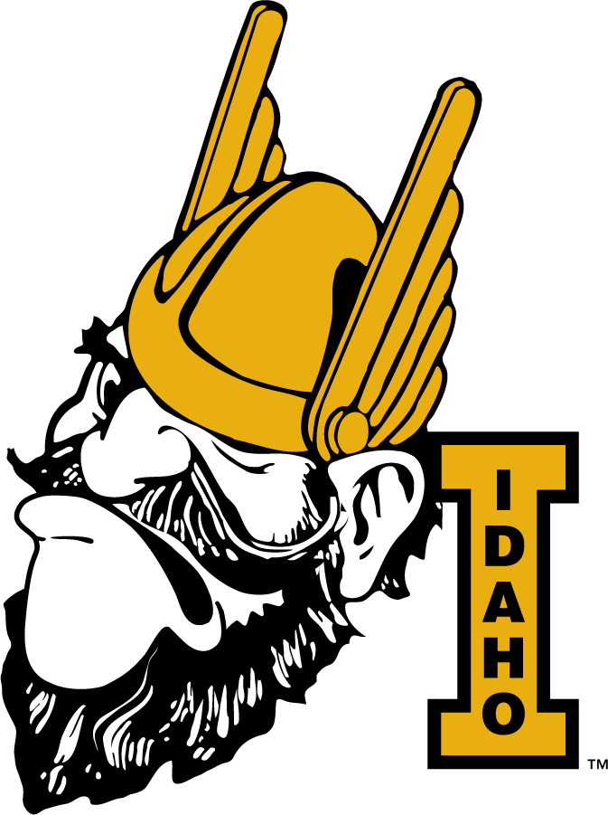 Idaho Vandals Logo Primary Logo (1946-1967) - Joe Vandal with Block I. Seen as early as 1946. Commonly shown frowning during this period. SportsLogos.Net