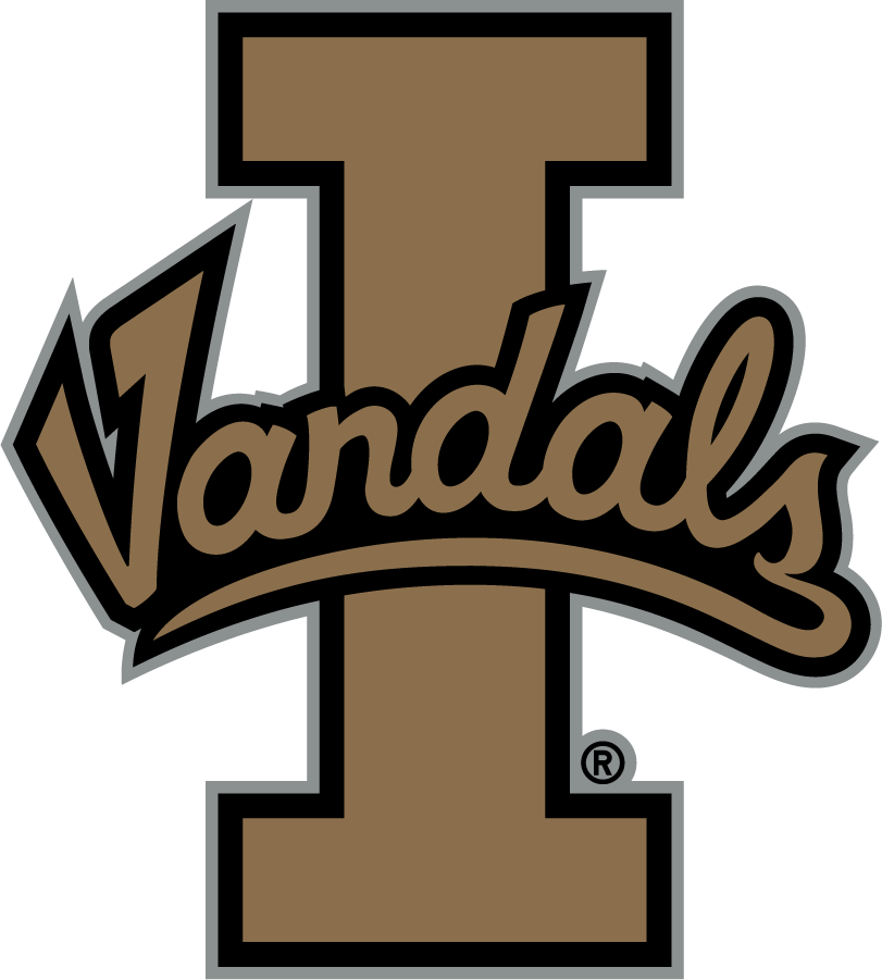 Idaho Vandals Logo Primary Logo (2008-2014) - Script Vandals on Block I SportsLogos.Net