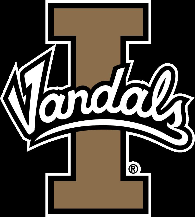 Idaho Vandals Logo Primary Logo (2014-2018) - Script Vandals on Block I SportsLogos.Net