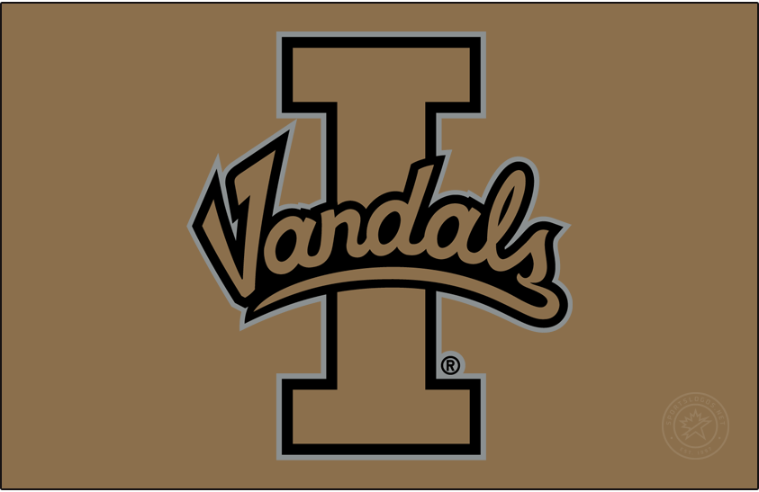 Idaho Vandals Logo Primary Dark Logo (2008-2014) - Script Vandals on Block I SportsLogos.Net