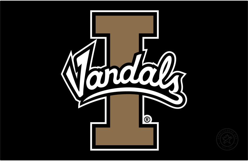 Idaho Vandals Logo Primary Dark Logo (2014-2018) - Script Vandals on Block I SportsLogos.Net