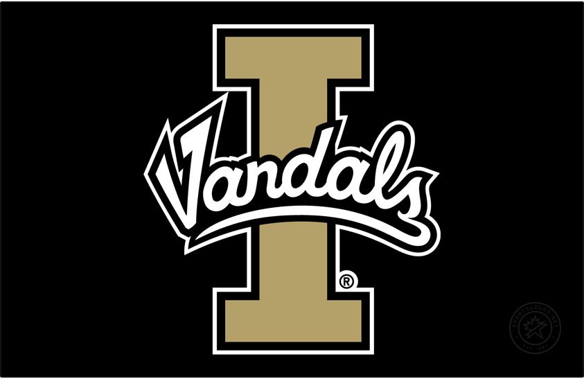 Idaho Vandals Logo Primary Dark Logo (2018) - Script Vandals on Block I SportsLogos.Net