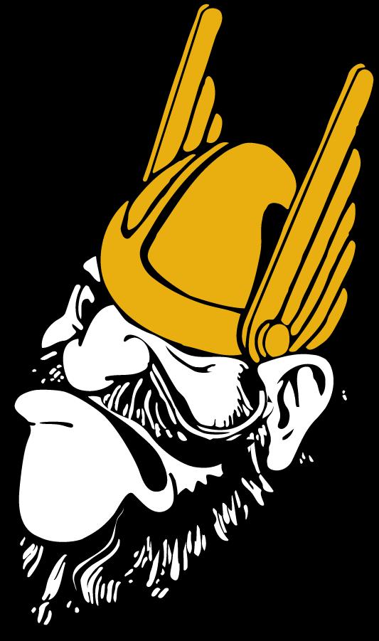 Idaho Vandals Logo Secondary Logo (1946-1967) - Joe Vandal frowning SportsLogos.Net
