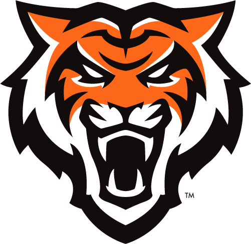 Idaho State Bengals Logo Primary Logo (2019-Pres) - The head of a bengal tiger facing the viewer in orange, black, and white SportsLogos.Net