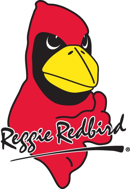 Illinois State Redbirds Logo Mascot Logo (1996-Pres) - ISU Redbirds mascot - Reggie Redbird SportsLogos.Net