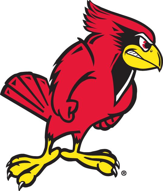 Illinois State Redbirds Logo Alternate Logo (1996-Pres) - A fullbodied angry cardinal SportsLogos.Net