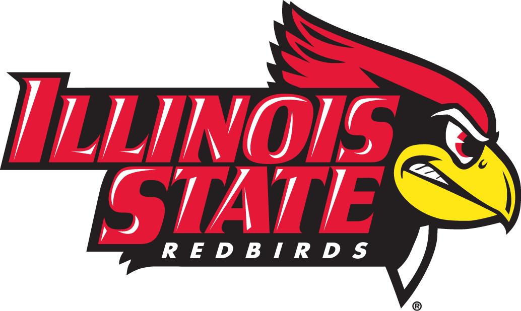 Illinois State Redbirds Logo Primary Logo (2005-Pres) - Angry cardinal head next to university name