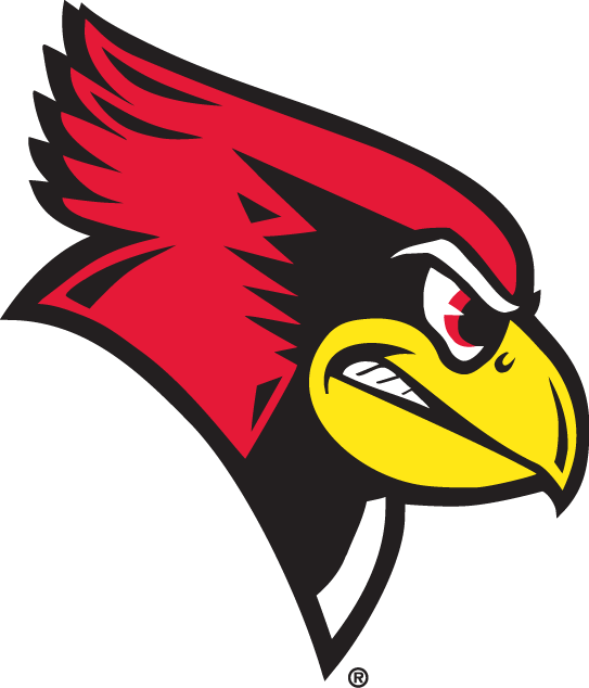 Illinois State Redbirds Logo Alternate Logo (1996-Pres) - The head of an angry cardinal in red, black, and yellow SportsLogos.Net