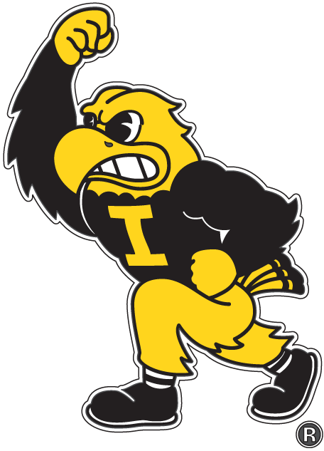 Iowa Hawkeyes Mascot Logo (2002) - Iowa Hawkeyes mascot - Herky the ...