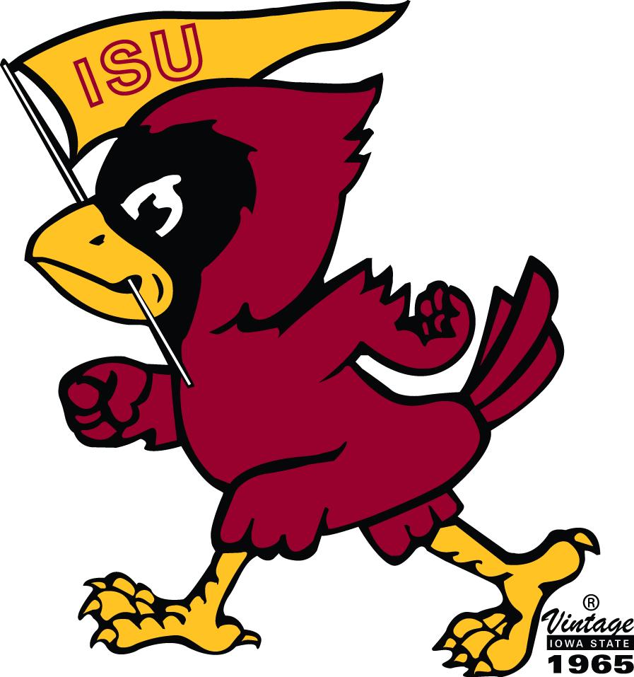 Iowa State Cyclones Logo Primary Logo (1965-1977) -  SportsLogos.Net