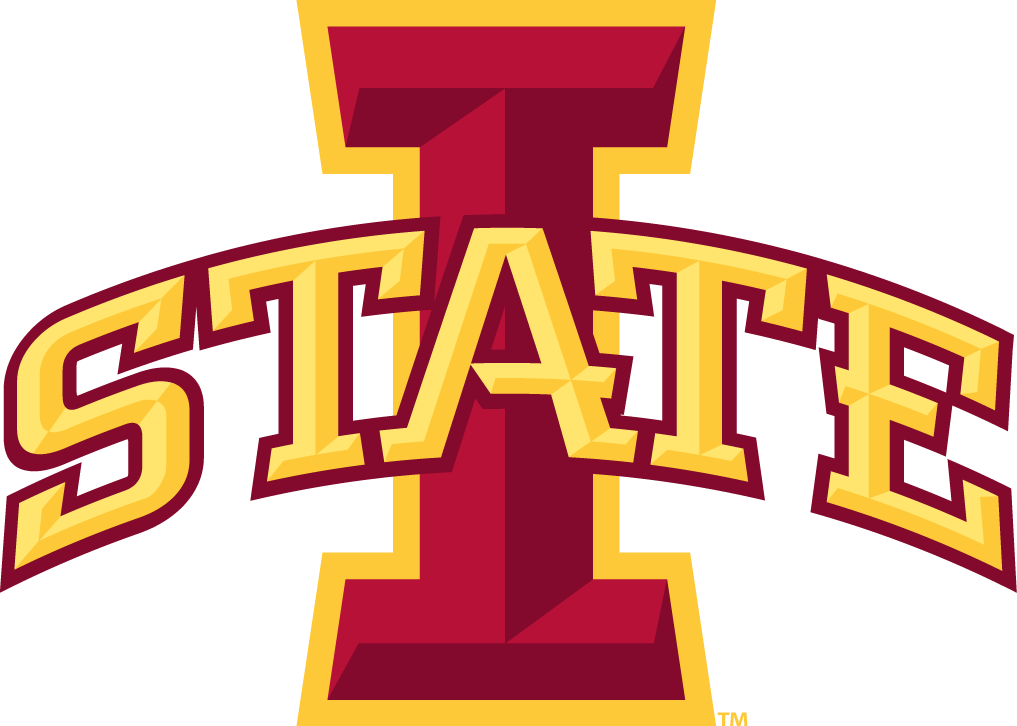 Iowa State Cyclones Logo Primary Logo (2007) - Red I with STATE arched across in yellow SportsLogos.Net
