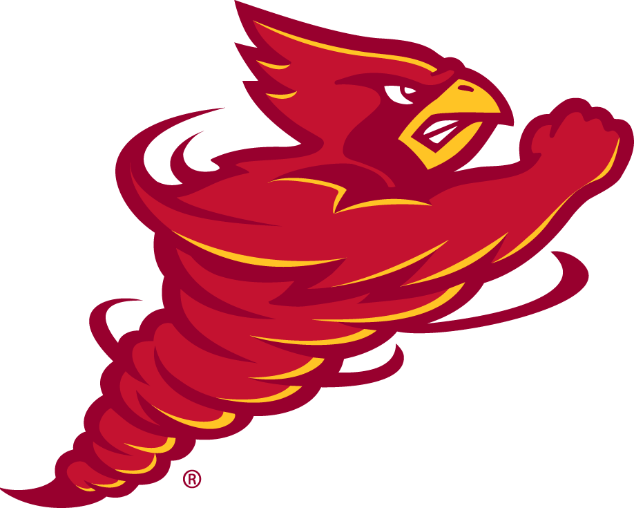 Iowa State Cyclones Logo Alternate Logo (2007-Pres) - A red cardinal spinning SportsLogos.Net