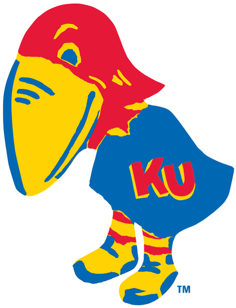 Kansas Jayhawks Logo Primary Logo (1923-1928) -  SportsLogos.Net