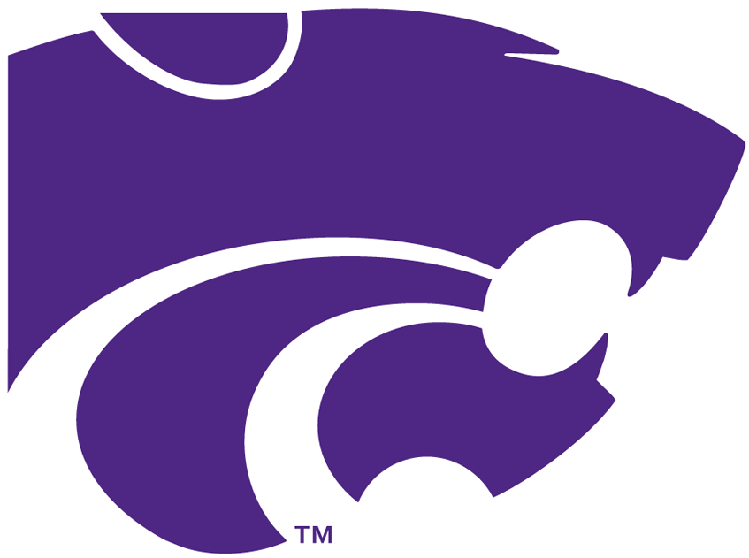 Kansas State Wildcats Logo Primary Logo (1989-Pres) - Sillouetted head of a wildcat in purple SportsLogos.Net