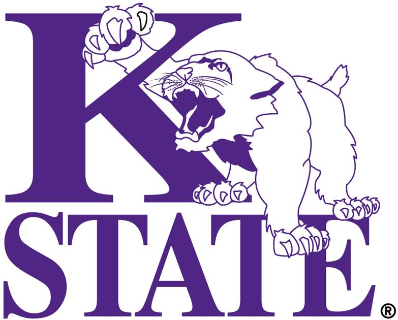 Kansas State Wildcats Logo Alternate Logo (1975-1989) - Two colour version of the primary logo SportsLogos.Net