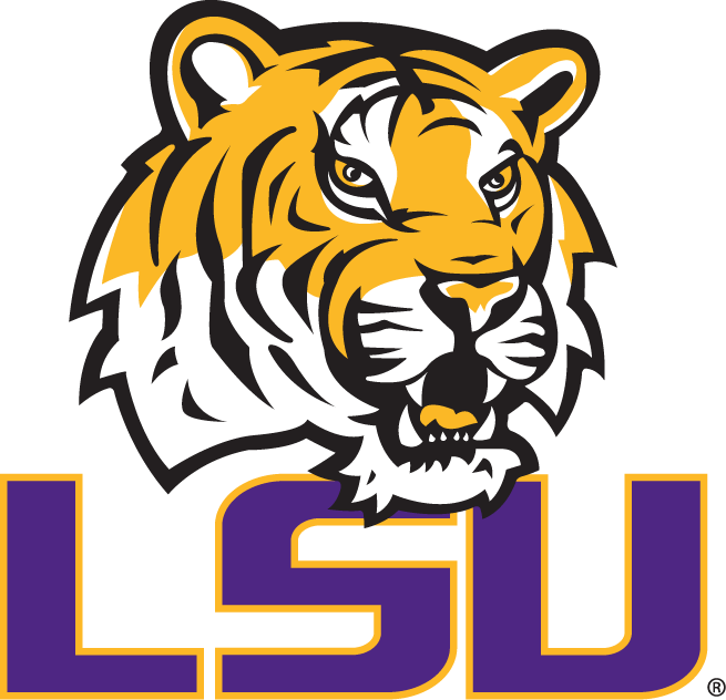 lsu tigers primary logo ncaa division i i m ncaa i m chris rh sportslogos net lsu logos through the years lsu logos over the years