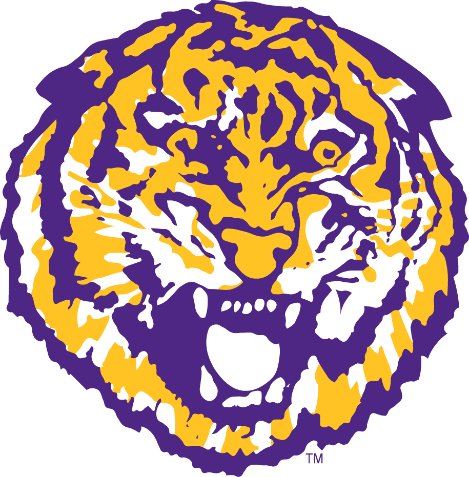 lsu tigers primary logo ncaa division i i m ncaa i m chris rh sportslogos net LSU Paw Print Logo LSU Logo Black and White
