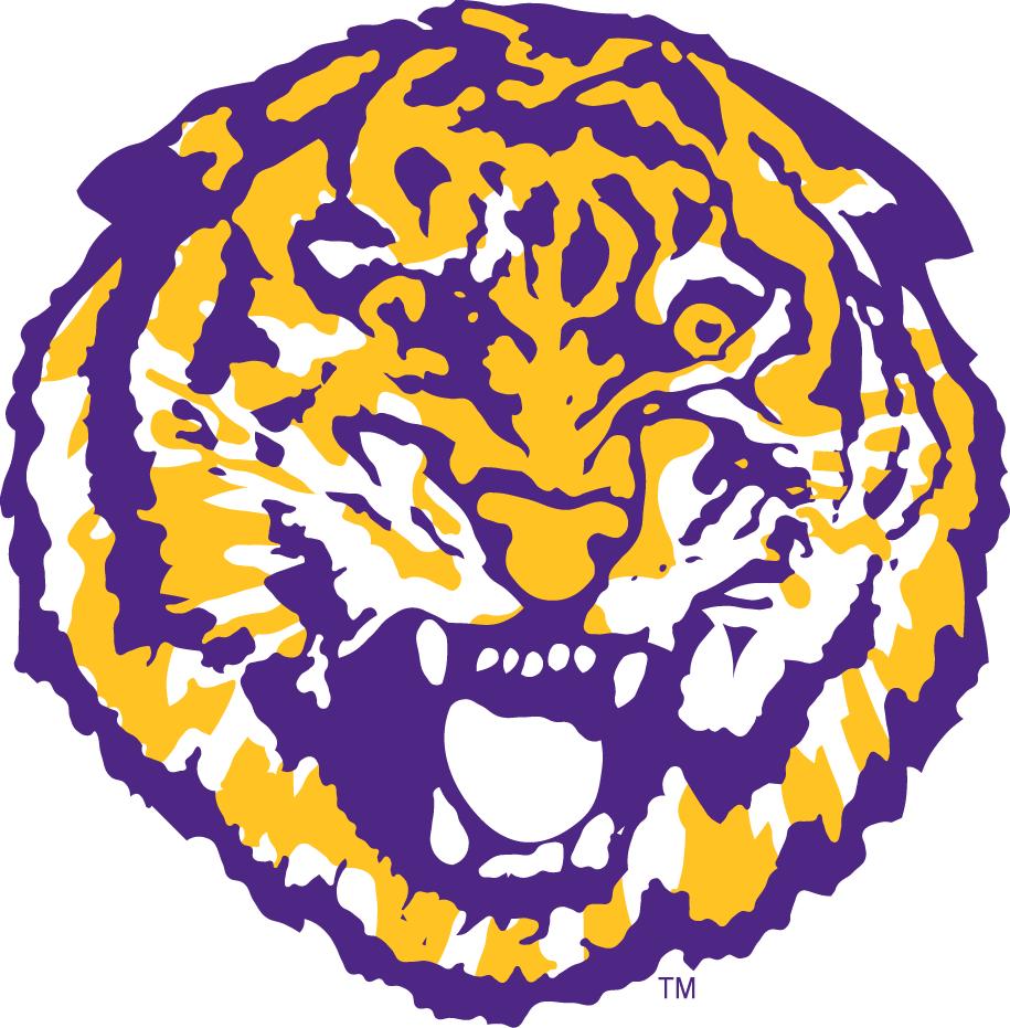 LSU Tigers Logo Primary Logo (1972-1979) - A growling tiger's head SportsLogos.Net