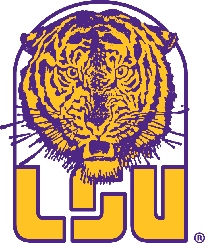 LSU Tigers Logo Primary Logo (1967-1971) -  SportsLogos.Net