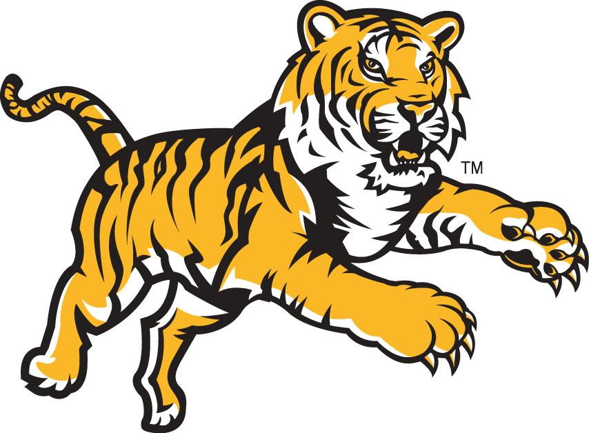 LSU Tigers Logo Alternate Logo (2002-2010) - Leaping Tiger SportsLogos.Net