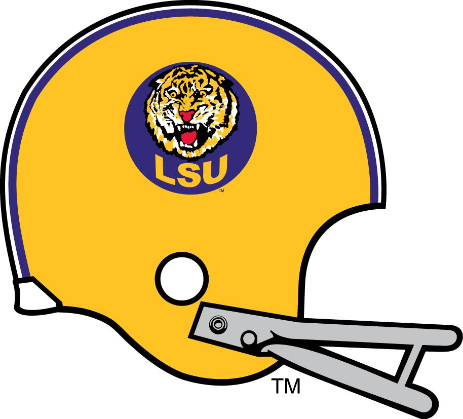 LSU Tigers Helmet Helmet (1972-1976) -  SportsLogos.Net