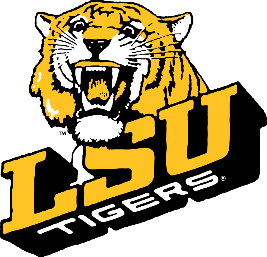 LSU Tigers Logo Primary Logo (1980-1989) -  SportsLogos.Net