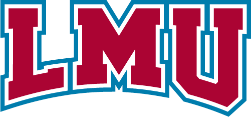 Loyola Marymount Lions Logo Primary Logo (2019-Pres) - LMU in red, white, and blue serifed letters SportsLogos.Net