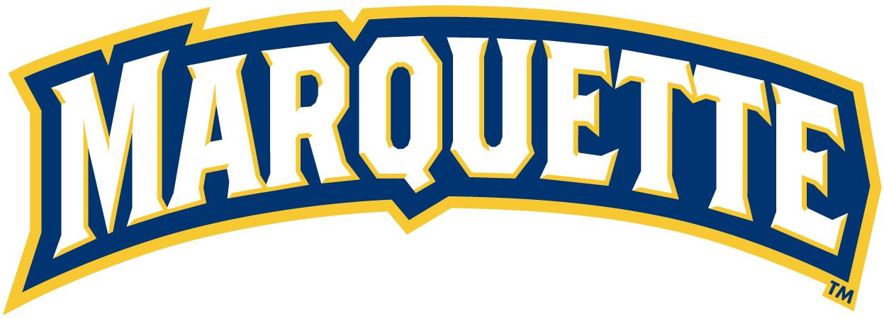 Marquette Golden Eagles Logo Wordmark Logo (2005-Pres) - 'MARQUETTE' SportsLogos.Net