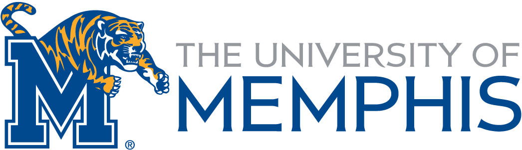 Memphis Tigers Logo Wordmark Logo (2006-2015) - Institutional wordmark combined with the athletics logo. This was discontinued in around 2015 as the Tiger was replaced by a stacked U of M in pillar design. SportsLogos.Net
